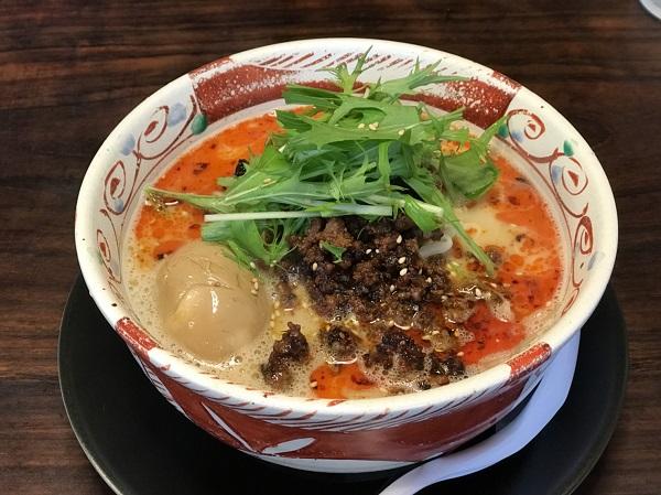 ごま担々麺 ラーメン真太さんで富山県南砺市福野