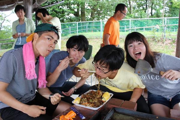 食事風景:富山ランニングクラブ夏バーベキュー大会in東福寺野自然公園