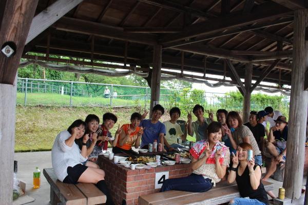 富山ランニングクラブ夏バーベキュー大会in東福寺野自然公園