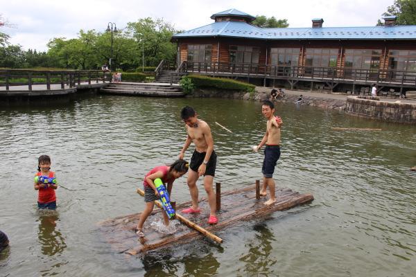 池画像;富山ランニングクラブ夏バーベキュー大会in東福寺野自然公園