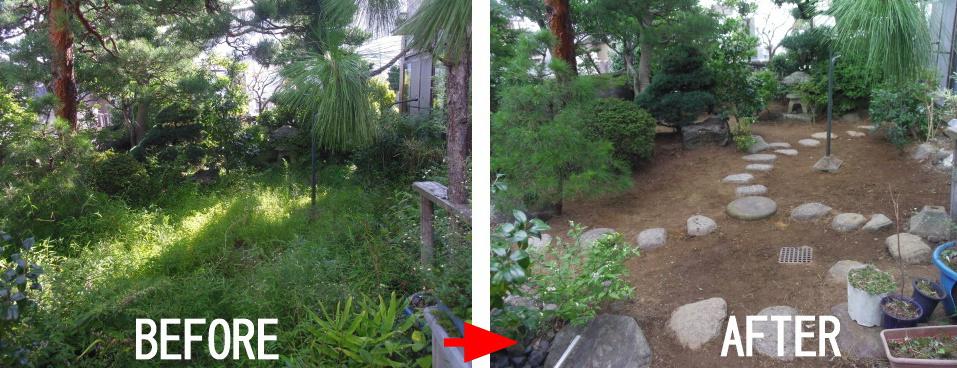 草むしり・草刈り・草刈り30坪