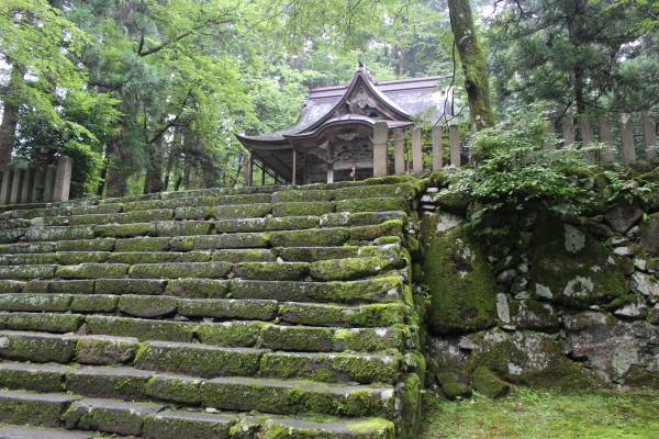 本堂:福井の癒し系観光スポット見つけた!北陸の苔寺こと平泉寺白山神社
