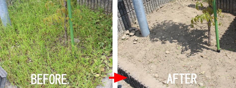 草むしり・草抜き取り・草刈り施工例:富山T様邸