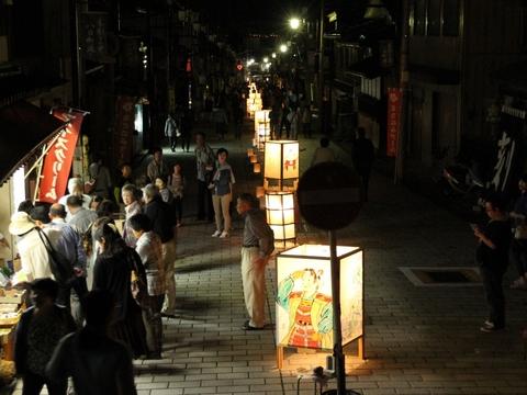 八日町通り:いなみ灯りアートと閑乗寺公園ハッピーセブン