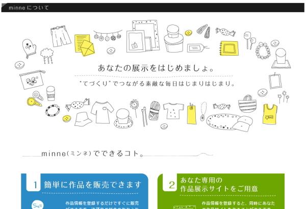 minne(ミンネ)の説明画面