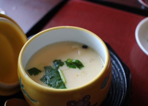 茶碗蒸し:合掌造りで優雅なランチなら五万石千里山荘さん:富山市婦中