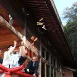 出雲大社福井分院で饅頭まき体験してきました