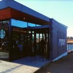 はじめて環水公園スタバに行ってきました!というブログを書く