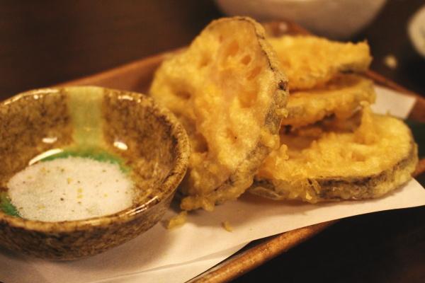 レンコン揚げ:もてなし蔵和onさんで割烹料理を楽しむ:富山居酒屋