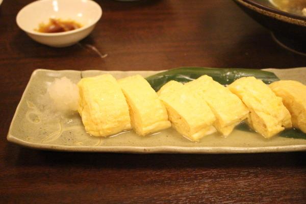 だし巻き卵:もてなし蔵和onさんで割烹料理を楽しむ:富山居酒屋