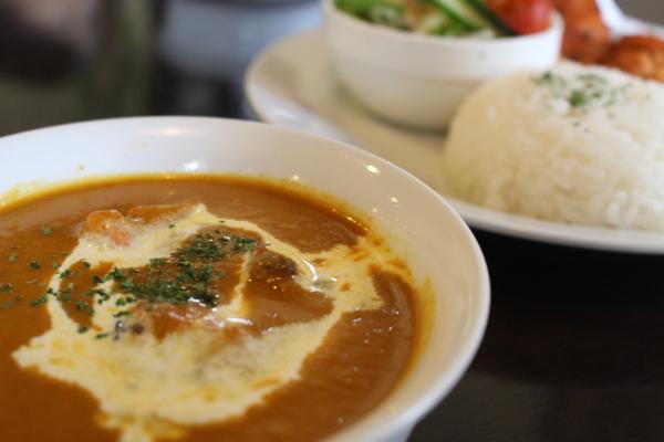 バターチキンカレー:富山カレー:インド料理ガンディでマイルドカレーランチ(高岡市佐野)