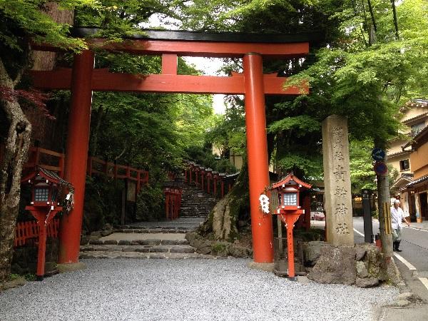 鳥居:京都観光:京都屈指のパワースポット!貴船神社(京都市左京区)に行ってみた