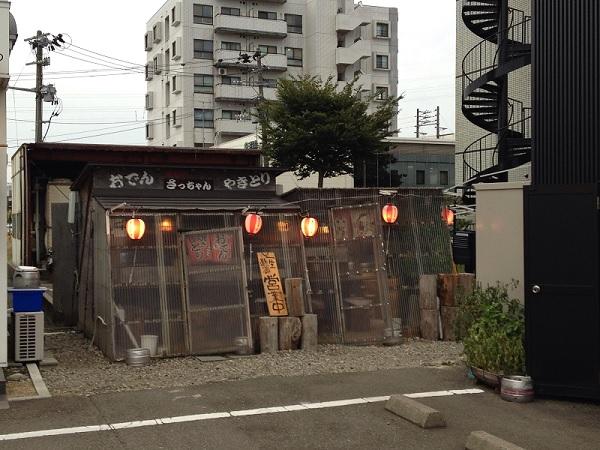 さっちゃん外観:小川屋の岩のりラーメンと屋台やさっちゃんで燕三条を満喫!