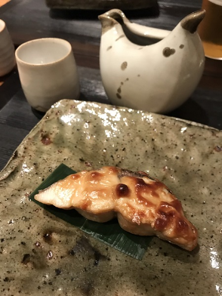 さわら味噌漬け 久々に日本料理・冨久屋さん(ミシュラン1つ星店)に行ってきましたー