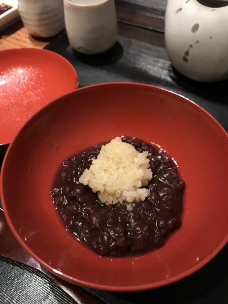 きびぜんざい 久々に日本料理・冨久屋さん(ミシュラン1つ星店)に行ってきましたー