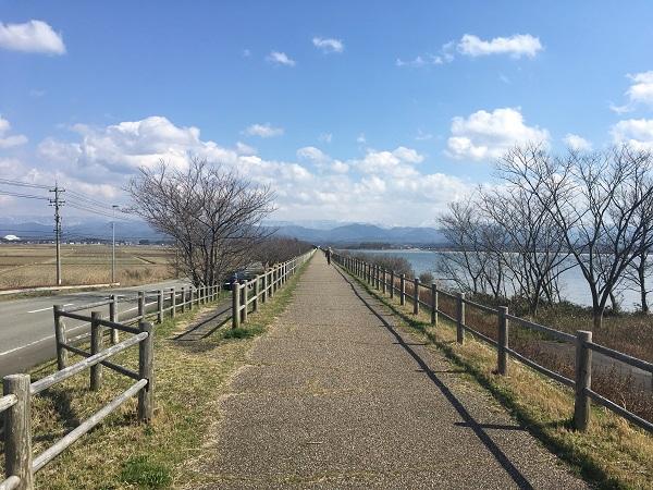 遊歩道 加賀で温泉ランニングなら柴山潟1周コース(約7.5キロ)がおすすめ
