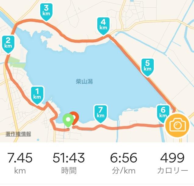 タイム 加賀で温泉ランニングなら柴山潟1周コース(約7.5キロ)がおすすめ
