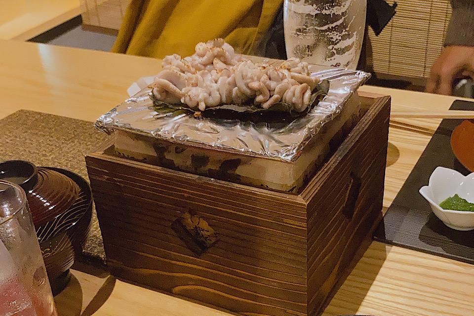 白子昆布焼き 予約の取れない富山駅前酒菜工房だいさんで大満足コースを堪能
