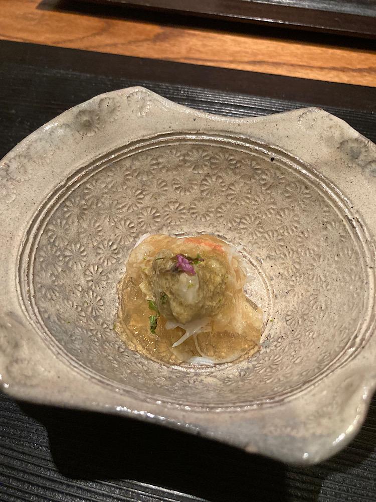 カニのジュレ 日本料理冨久屋(ふくや)富山