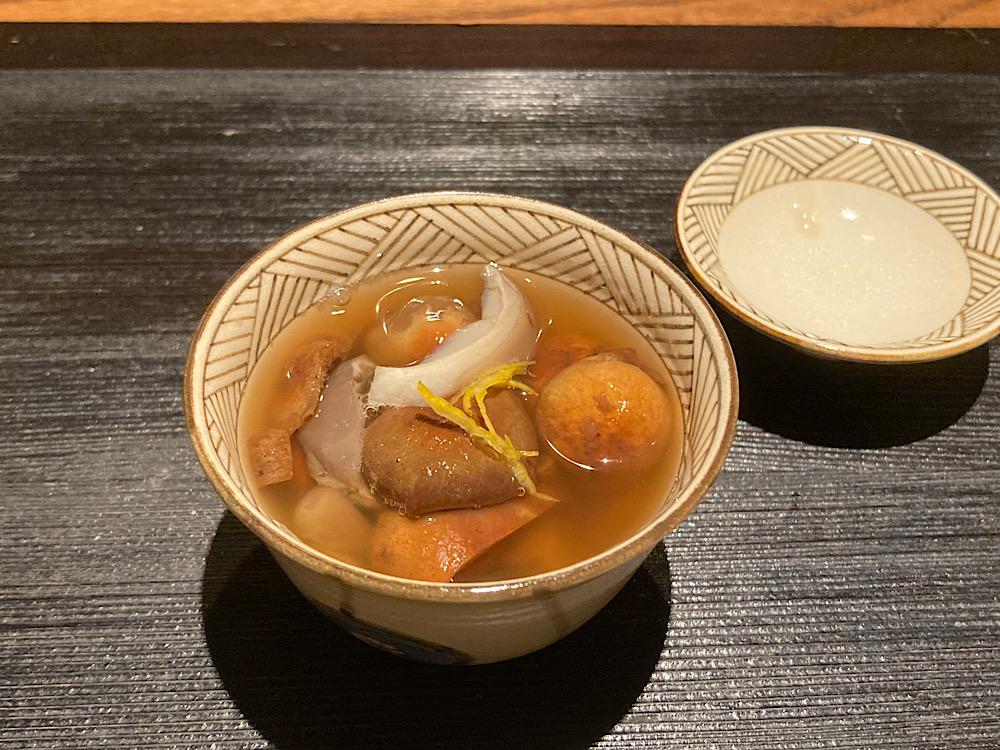 飛騨のきのこ汁 日本料理冨久屋(ふくや)富山