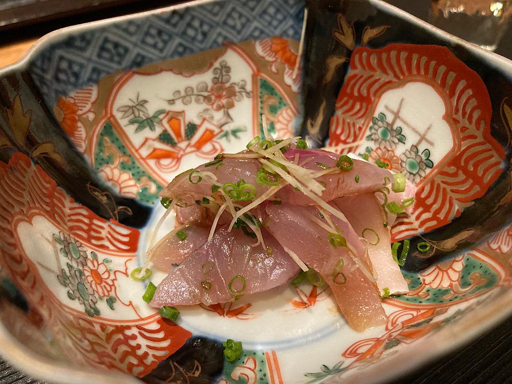 鯵刺し身 日本料理冨久屋(ふくや)富山